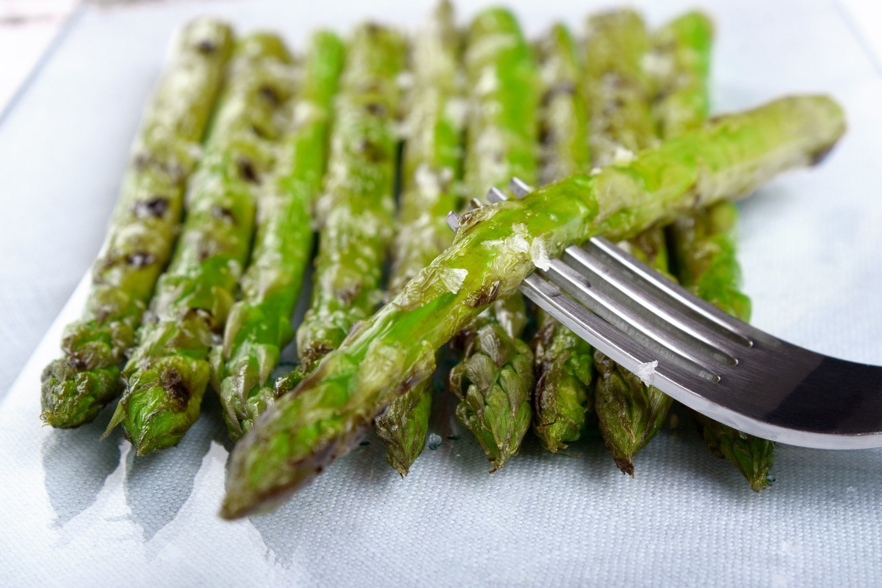 Delicious asparagus with Sea Salt